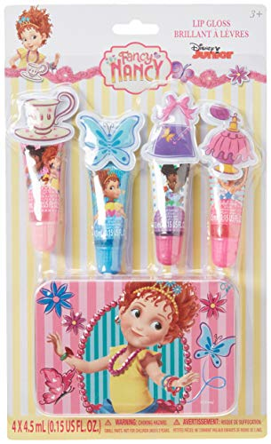 TownleyGirl Fancy Nancy Lip Tube With Storage Tin, Contains 4 -