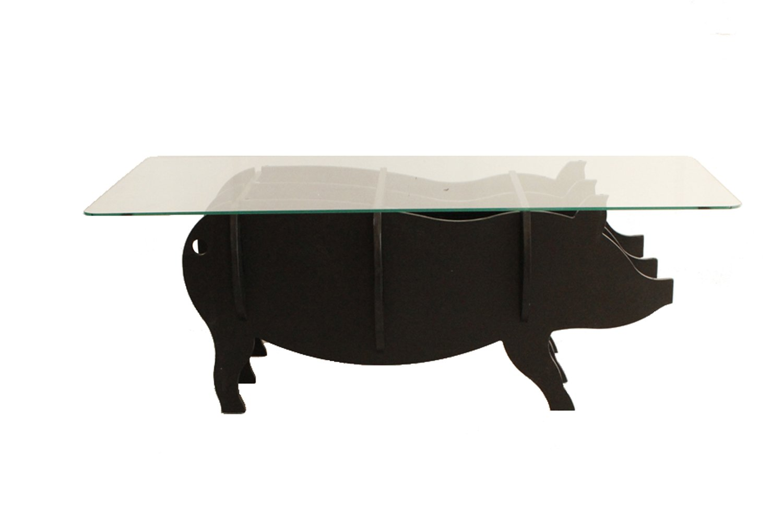 大川家具 東馬 ガラス天板テーブル モチーフ BOO ブラック B00S9KK4POブラック