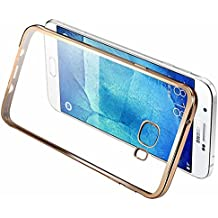 Galaxy C7 Case,Samsung Galaxy C7 Soft case ,Skmy Ultra-Thin Tpu Case Metal Electroplating Technology Soft Silicone Skin Cover For Samsung Galaxy C7 C7000 (Golden plating TPU)