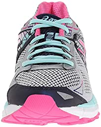 ASICS Women\'s GT-2000 3 Trail Running Shoe Lightning/Hot Pink/Navy 7 D - Wide