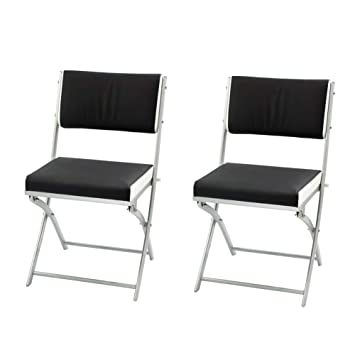 Folding Dining Chairs Padded.Illuminer La Maison Set Of 2 Folding Dining Chair With