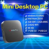 Wintel Pro Mini PC Intel Atom x5-Z8350 (Up To 1.92 GHz) Fanless Desktop Computer Windows 10 (64 Bit) [2GB/32GB/4K/Wi-Fi/Bluetooth/USB 3.0]