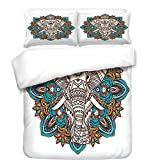 iPrint Duvet Cover Set,Arabian,Geometric Lines and Stars Based on Traditional Oriental Eastern Artistic World Decorative,Multicolor,Best Bedding Gifts for Family Or Friends