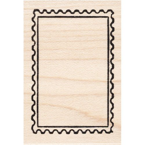Blank Post Rubber Stamp Faux (Cute Postage Stamps)
