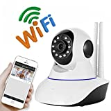 Wireless Security Camera IP 2.0MP Camera, 1080p HD Pan/Tilt/Zoom Wireless IP Security Surveillance System with Night Vision, Remote Monitor with iOS, Android App - Yoosee/YYP2P