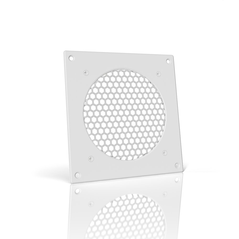 AC Infinity White Ventilation Grille 6'', for PC Computer AV Electronic Cabinets, replacement grille for AIRPLATE S3/T3