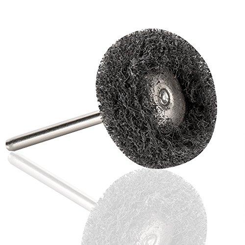 Rocaris 1'' (25mm) Black 300 Grit Abrasive Buffing Polishing Wheels Burr For Proxxon Dremel Rotary Tools-1/8''(3mm) Shank Pack of 50Pcs by Rocaris (Image #3)