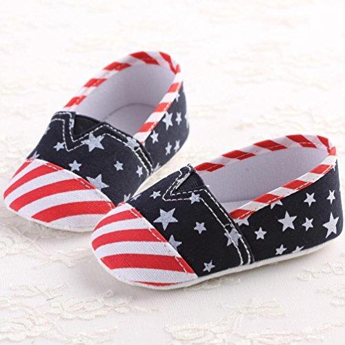 Jamicy® Baby-Mädchen-Segeltuch-Schuhe Anti-Rutsch-weiche alleinige Kleinkind-Schuhe