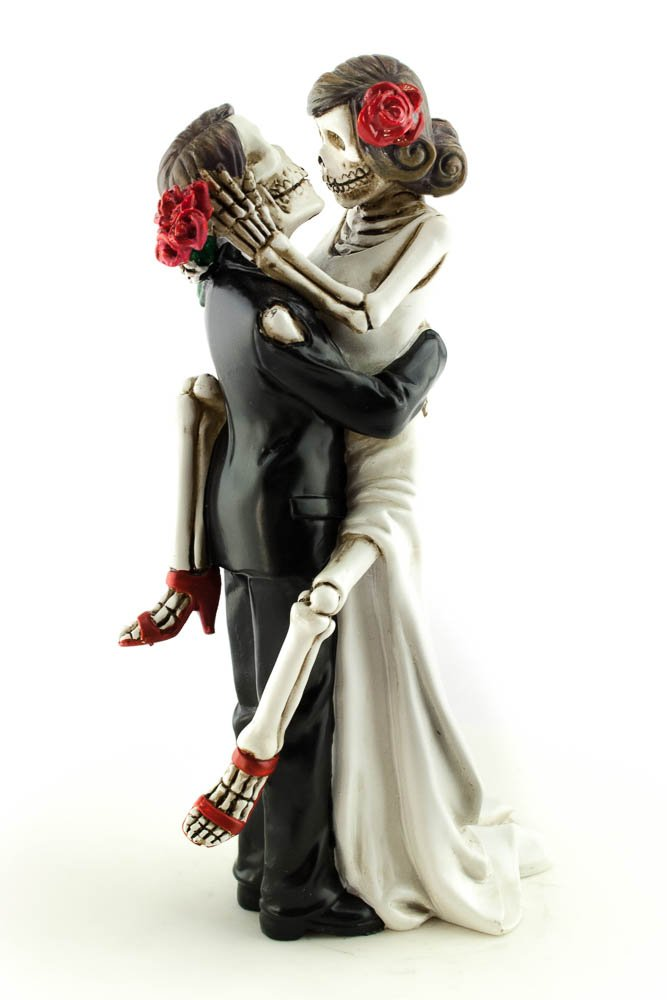 Wedding Collectibles Day of the Dead Sexy Skulls Wedding Cake Topper by Wedding Collectibles (Image #1)