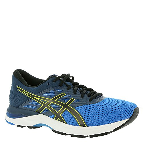 ASICS GEL-Flux 5 Directoire Blue/Black/Safety Yellow Men's Running Shoes, Size 8.5