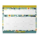 weekly meal planner fridge - Boxclever Press Big Meal Planner & Magnetic Refrigerator Grocery List. Nearly US Letter size. Perforated shopping list pad with useful headings & weekly menu planner. Pocket for coupons. (Teal)