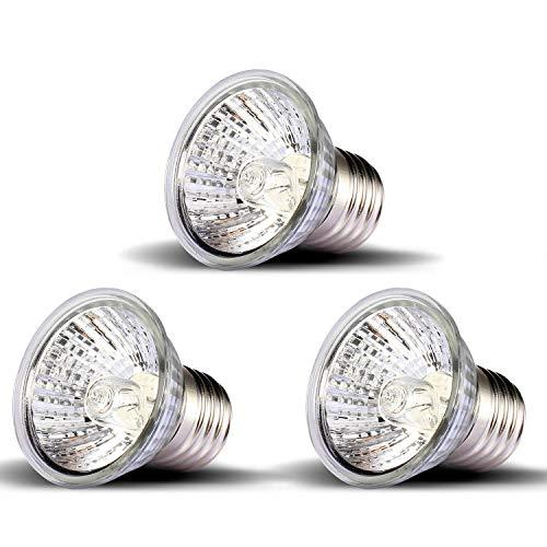 OMAYKEY 3 Pack 50W UVA + UVB Full Spectrum Sun Lamp Sunbathe Heat Lamp/Bulb/Light for Lizard Reptiles & - Uva Bulbs Light Uvb