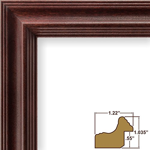 Craig Frames 229POPCH 24 by 36-Inch Poster Frame, Solid Wood, 1.22-Inch Wide, - Cherry Wood Frame