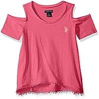 U.S. Polo Assn. Girls' Short Sleeve Fashion T-Shirt