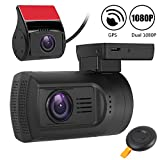 Dual Dash Cam Mini 0906 Front and Rear Dash Cam Dual FHD 1080P Car Dashboard Camera Super Night Vision,GPS,Motion Detection,Parking Mode Car DVR Recorder