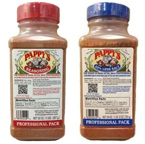 Pappy's Choice Seasoning 32-oz Pro Pack and Pappy's Choice 28-oz 50% Less Salt