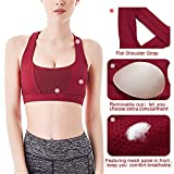 SHAPERX Women's Sports Bra Padded Breathable High