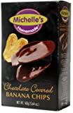 Michellle's Homemade Chocolate Covered Banana Chips Pack of 2 5.64oz. Per Pack …
