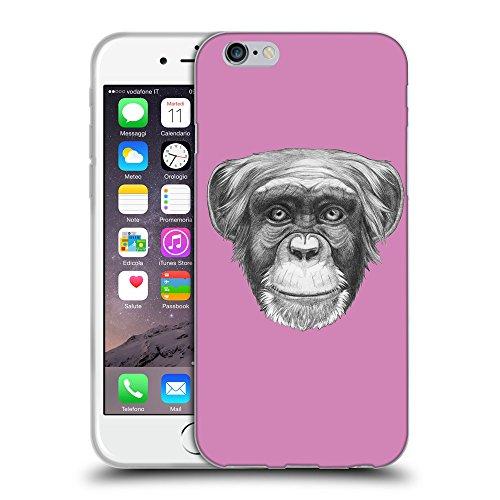 GoGoMobile Coque de Protection TPU Silicone Case pour // Q05170618 Dessin singe Bronze // Apple iPhone 7