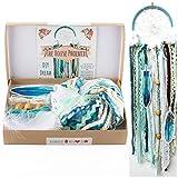 DIY Dream Catcher Kit Birthday Gift Aqua Blue Make Your Own Craft Project