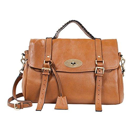 Cowhide Satchel Shoulder Daily Handbag