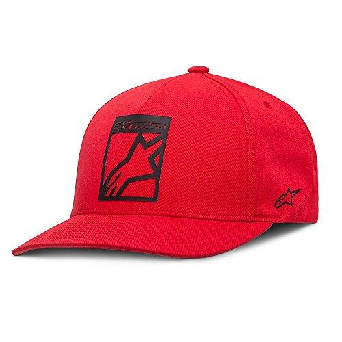Alpinestars Block - Alpinestars Men's Block Curve Hat, Red, One Size