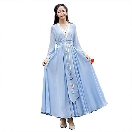 YCWY - Disfraz Vintage para Mujer, Vestido Chino Bordado Hanfu ...