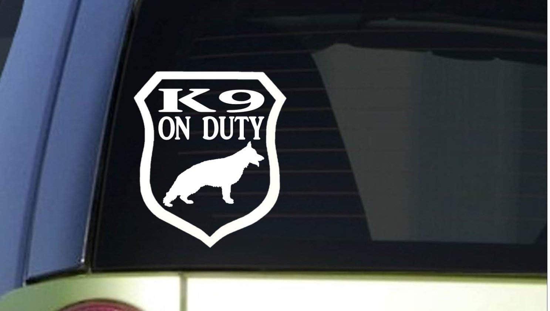 BrandVinyl K9 on Duty 6x6 inch Sticker Decal Dog schutzhund Malinois German Shepherd