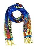 Laurel Burch LBS-130 Authentic Silk Art Scarf, Harmony Under The Sun