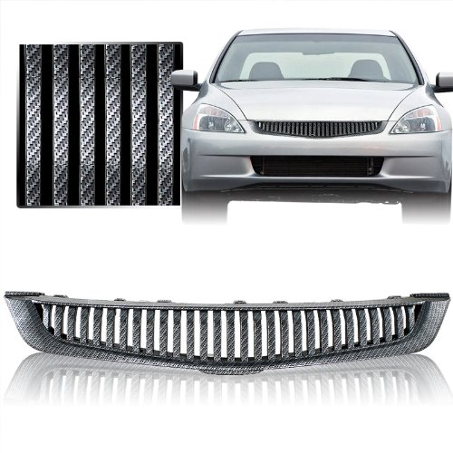 (2003-2005 Honda Accord 4DR T-R ABS Front Grill Carbon Style)