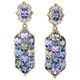 Michael Valitutti Palladium Silver Zoisite & Tanzanite Drop Earrings
