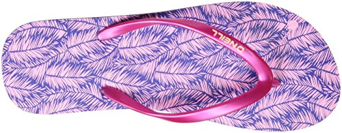 ONeill FW Printed, Chanclas Mujer Azul (Blue Allover Print W/ Rosa OR PURPLE)