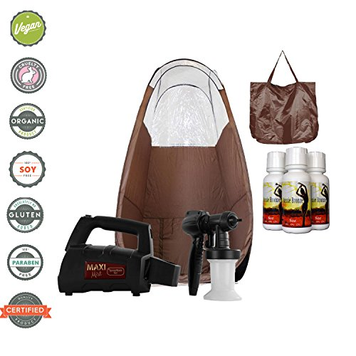 Price comparison product image MaxiMist SprayMate TNT HVLP Sunless Spray Tan Machine with Pop Up Tan Tent (Brown Tent)