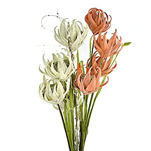 Homeford Tall Artificial Protea Flower with Leaves and Branches, 37-Inch 63