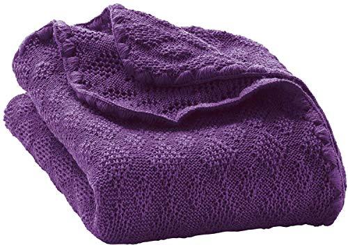 - Disana 100% Ogranic Merino Wool Baby Blanket 31.5 x 40 inches (Plum)