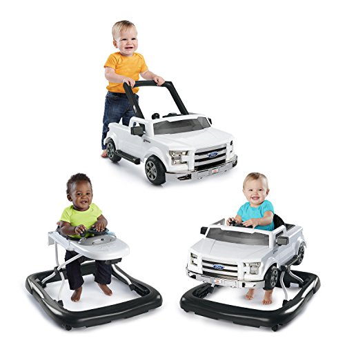 - Bright Starts 3 Ways to Play Walker - Ford F-150, White, Ages 6 months +