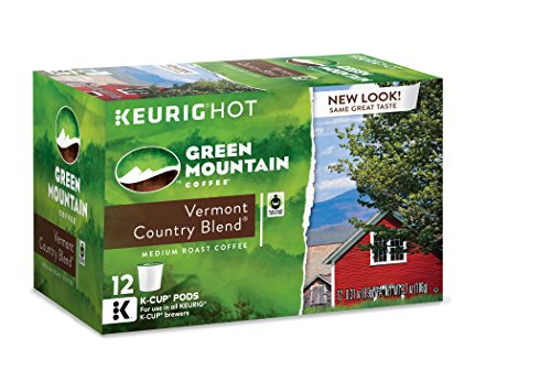 Unripe Mountain Coffee Vermont Country Blend, Keurig K-Cups, 72 Count