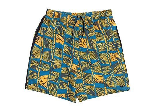 Nike Men`s 9' Volley Swim Trunks Shorts (Large, Blue Water (818) / Yellow/Black)