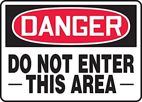 Red//black On White 10 Length x 14 width x 0.040 Thickness 10 Height 10 Length 14 Wide Accuform MADM102VA Aluminum Sign Aluminum LegendDANGER Do Not Enter This Area 10 x 14 LegendDANGER Do Not Enter This Area 10 Height 14 Wide 10 x 14