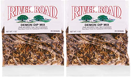 River Road No Salt No MSG Demon Dip Mix, 1 Ounce Packet (Pack of 2) (Best Store Bought Cajun Seasoning)