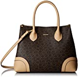 Calvin Klein Stella Signature East/West Tote, Brown/Khk/Nude
