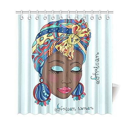 your-fantasia una hermosa niña africana en una bufanda Drape cuarto ...