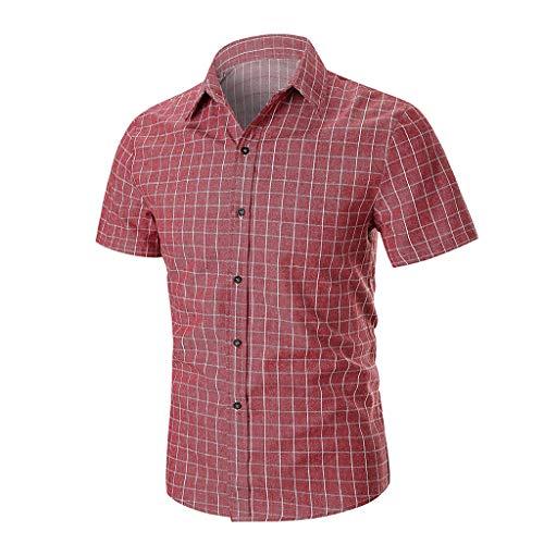 - Fashion Men's Premium Lattice Design Polo Shirt, MmNote Men's Ployester Retro Simple Cool Quick Moisture Wicking Short Sleeve Red