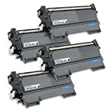 Printronic Compatible Toner Cartridge Replacement for Brother TN-450 TN450 (4 Black) 4 Pack DCP-7060D DCP-7065DN HL-2130 HL-2132 HL-2220 HL-2230 HL-2240 HL-2240D HL-2242D HL-2250DN HL-2270DW HL-2280DW Intellifax 2840 2940 MFC-7240 MFC-7360N MFC-7460DN MFC-7860DW, Office Central