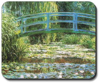 (Monet: Japanese Footbridge Mouse Pad - By Art Plates )