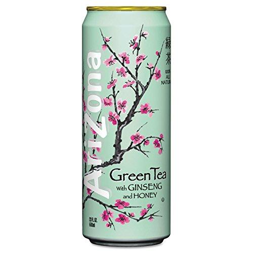 Green Tea Sweet Honey (ARIZONA 827195 Green Tea with Ginseng & Honey 23 oz Can 24/Case)