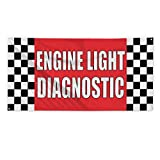 Engine Light Diagnostic #1 Outdoor Fence Sign Vinyl Windproof Mesh Banner With Grommets - 3ftx6ft, 6 Grommets