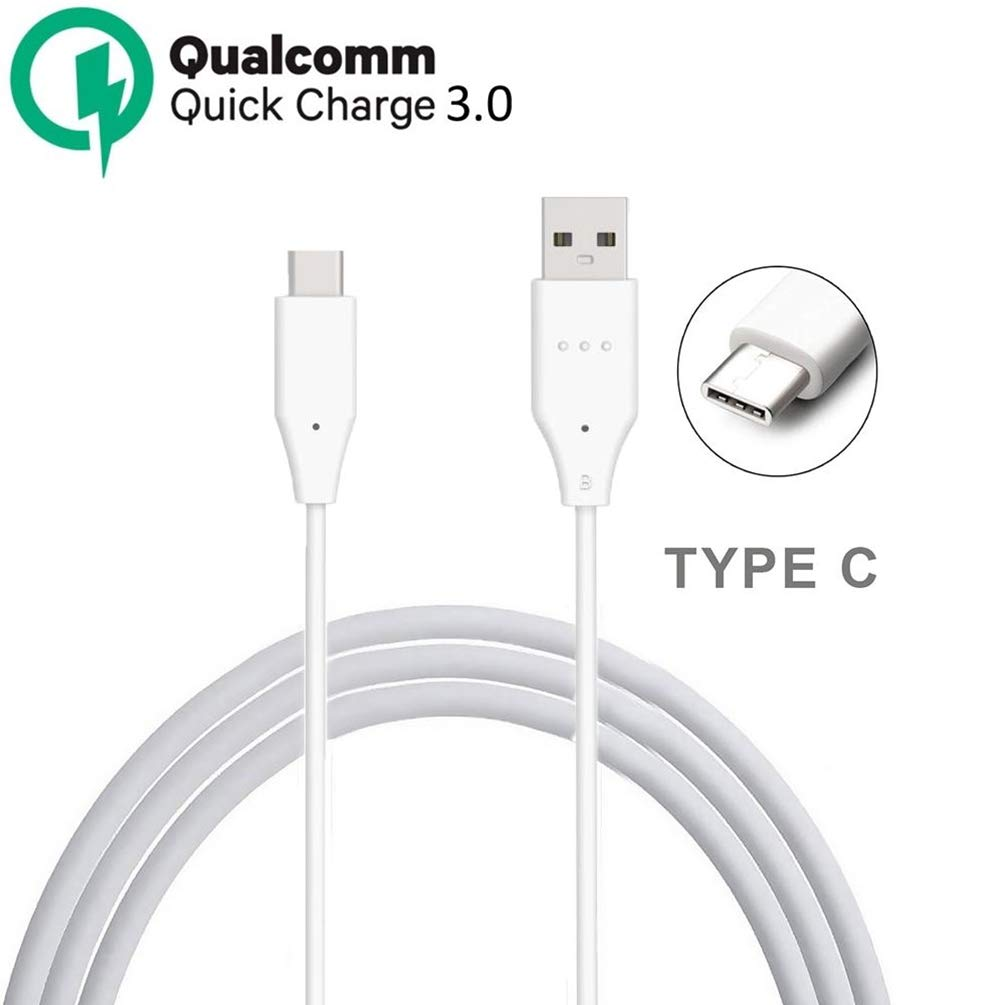 White USB Type-C Data Cable 18W. Quick Charging 3.0 KIT Works for Xiaomi Redmi Note 8 Pro Wall Charger
