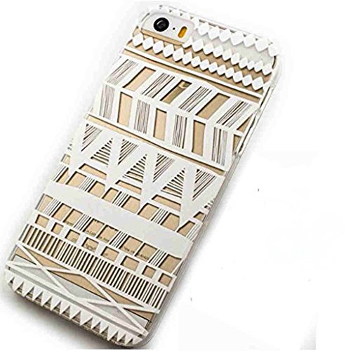 5 Case,iPhone 5s Case -LUOLNH Henna Itzli Mayan Aztec tribal native american indian ethnic Clear Pattern Premium ULTRA SLIM Hard Cover for iPhone 5 5S - Henna Phone Cases Iphone 5s