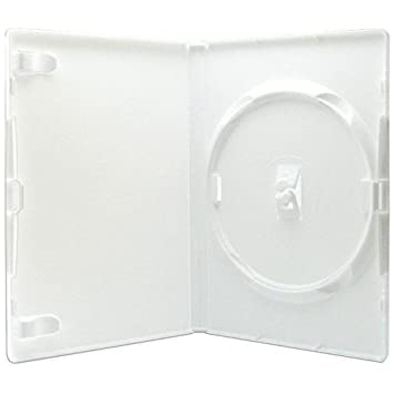 50 estuches blancos para DVD, marca Amaray - 14 mm: Amazon ...